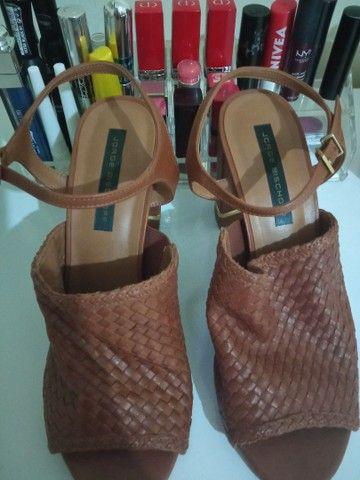 Sandália de couro tamanho 37 - Jorge Bischoff - Nova! - Foto 5