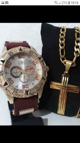 Cordão + relógio Invicta  - Foto 4
