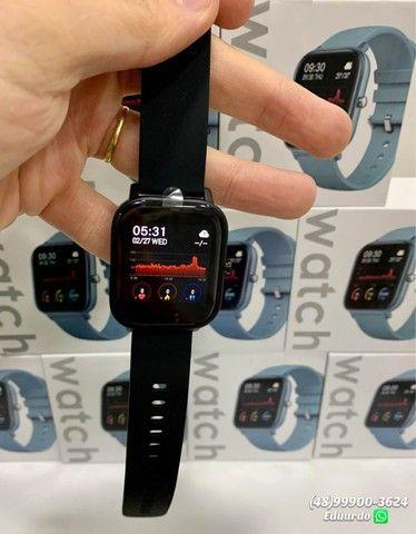 Relógio inteligente Smartwatch P8!!  monitor Cardíaco, sono, etc (NOVO) - Foto 5