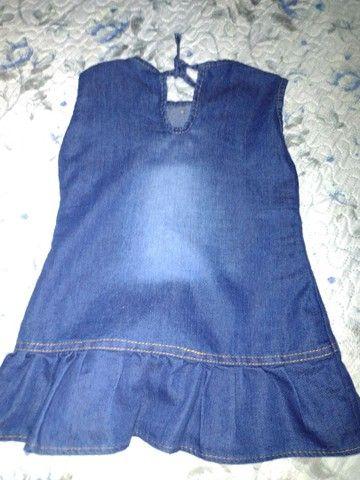 Vestido jeans infantil - Foto 2