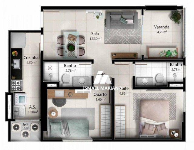 Apartamento à venda, 55 m² por R$ 347.000,00 - Praia de Itaparica - Vila Velha/ES - Foto 16