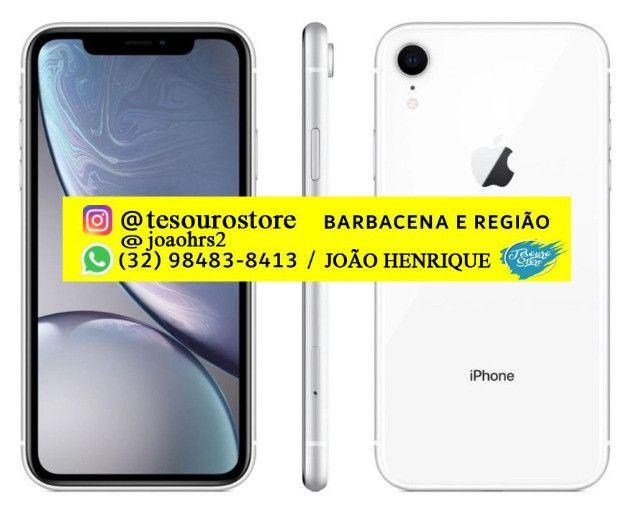 IPhone XR 64GB Branco Lacrado com Nota Fiscal Garantia (Sem trocas) - Foto 2