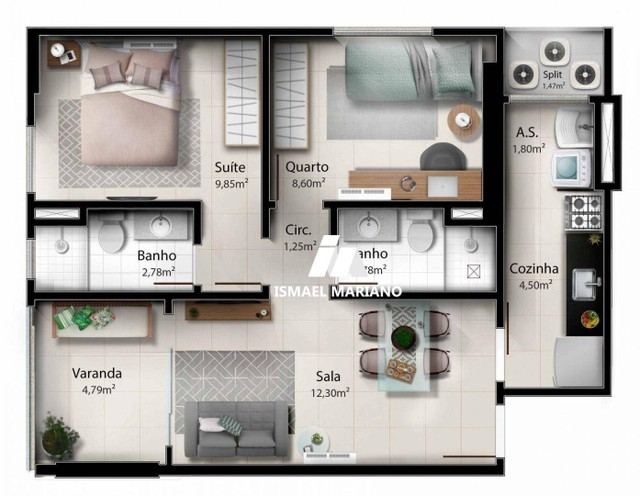 Apartamento à venda, 55 m² por R$ 347.000,00 - Praia de Itaparica - Vila Velha/ES - Foto 18