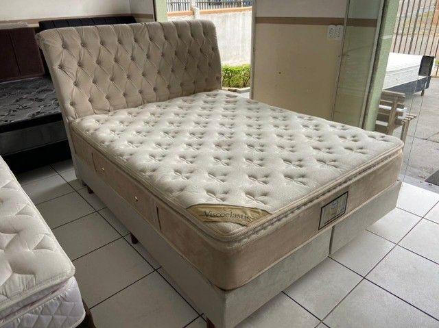 cama box + cabeceira - queen size - entrego - Foto 4