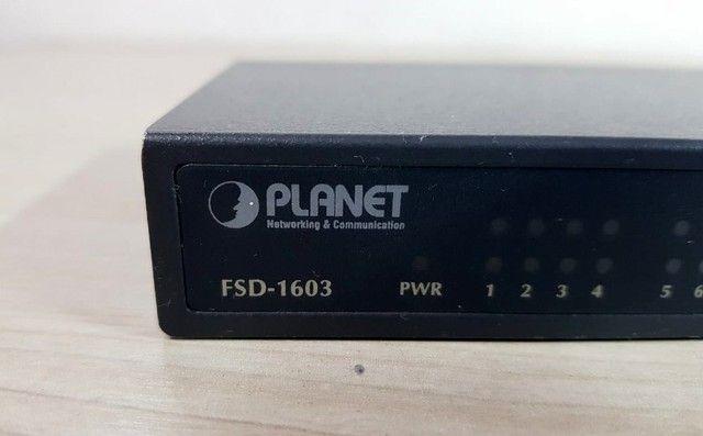 Switch Planet 16 Portas RJ45 10/100mbps