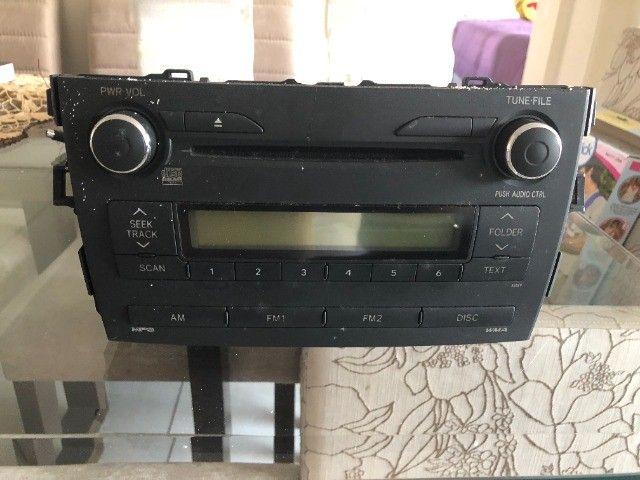 Rádio do Corolla Original (Modelo 2009  até 2014) - Foto 2