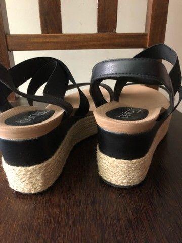 Sapato anabela beira rio 37 - Foto 4
