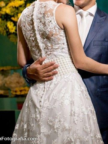 Vestido de noiva branco com renda - Foto 2