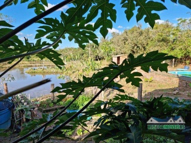 Velleda oferece 1 hectare a 5 minutos centro viamão com açude e casa, troca - Foto 13