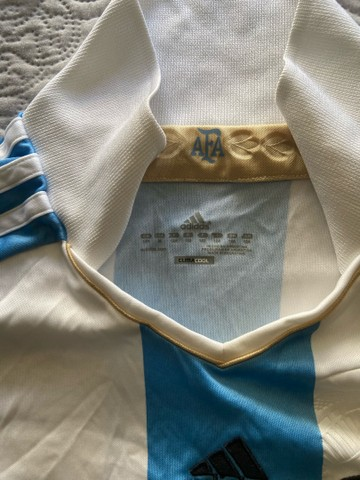Camisa Oficial Adidas (M infantil) - Seleção Argentina  - Foto 2