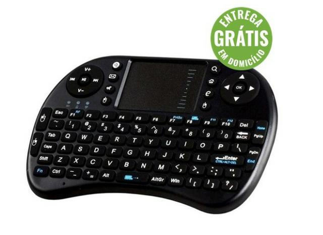 Mini teclado sem fio touch pad pc android tv box ou smart -novo- entrega gratis