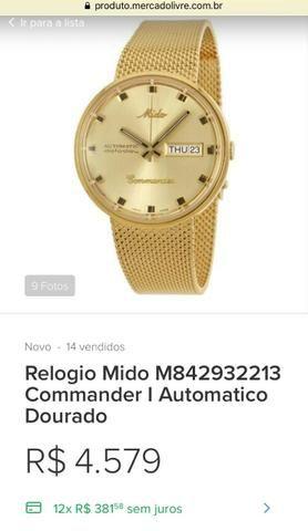 IMPERDÍVEL* ?Relógio Mido