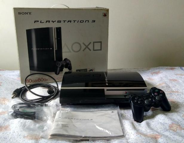 Kit Playstation 3 (Fat) Modelo CecHL01 + Jogos