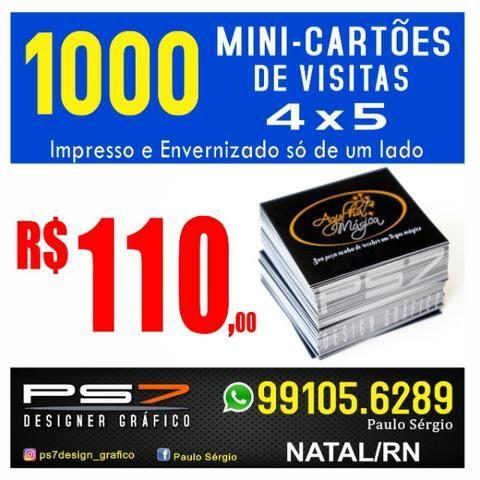 1000 Mini-Cartões de visitas tamanho 4 X 5.