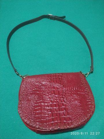 Bolsa em couro croco - Foto 3