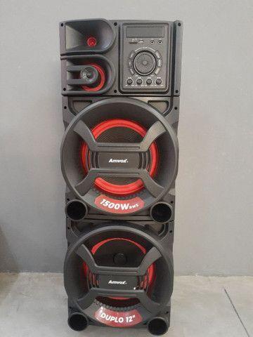Caixa de som amvox portátil  1500 watts rms - Foto 4