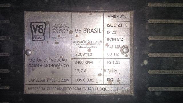 Compressor de ar 15 PÉS 100 LITROS V8 - Foto 2
