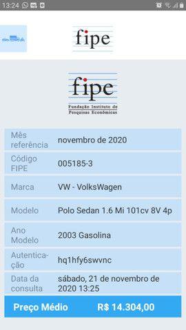 Polo Sedan 1.6 gasolina 2003 - Foto 17