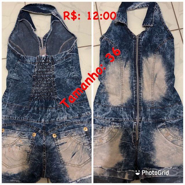 Macaquinho jeans 36 ou P  - Foto 2