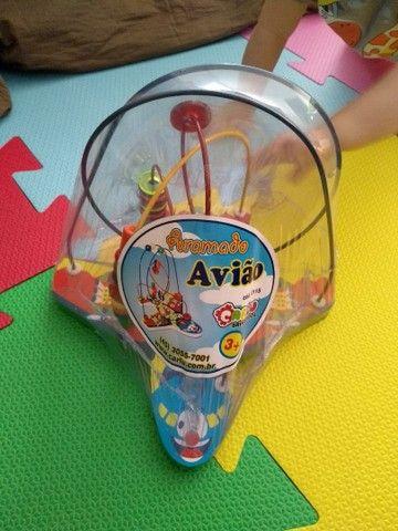 Brinquedo Educativo Aramado Avião - Montanha-russa - Foto 4