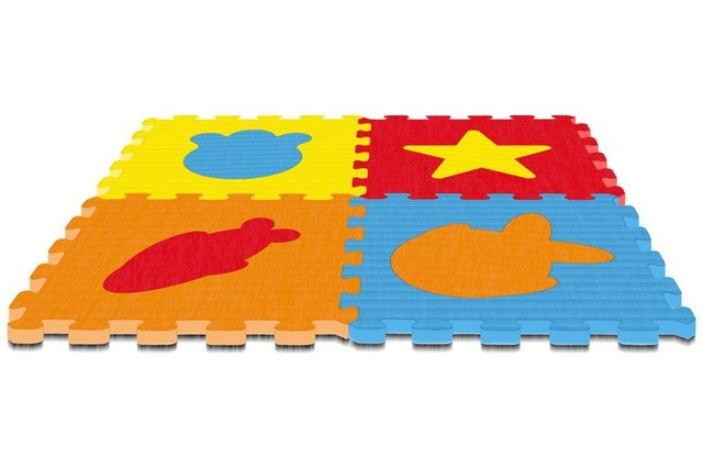 Tapete Infantil 4 Peças + 4 Peças Figuras Destacáveis - Foto 2