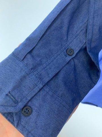 Camisa social masculina Jeans  - Foto 4