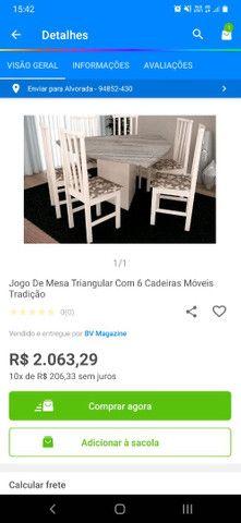 Mesa com 6 cadeira  - Foto 3