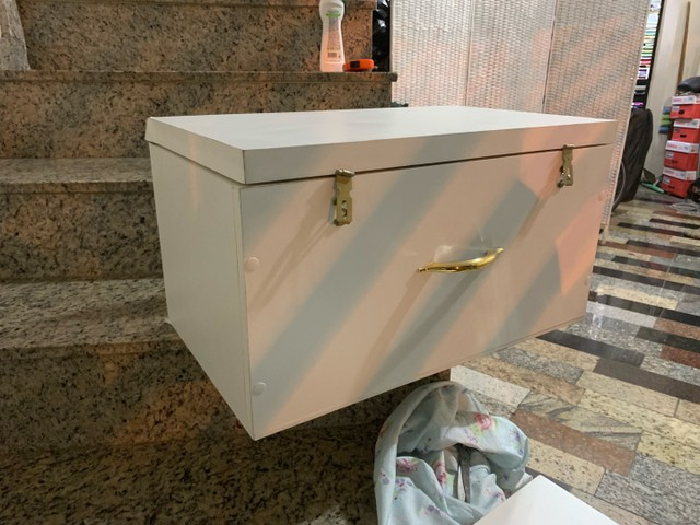 Conjunto de baú tipo maleta MDF organizador - Foto 6