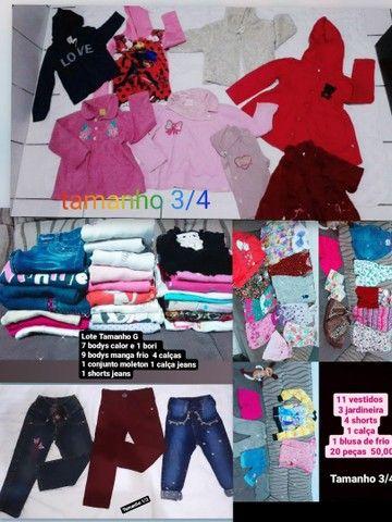 Lote roupa infantil feminina