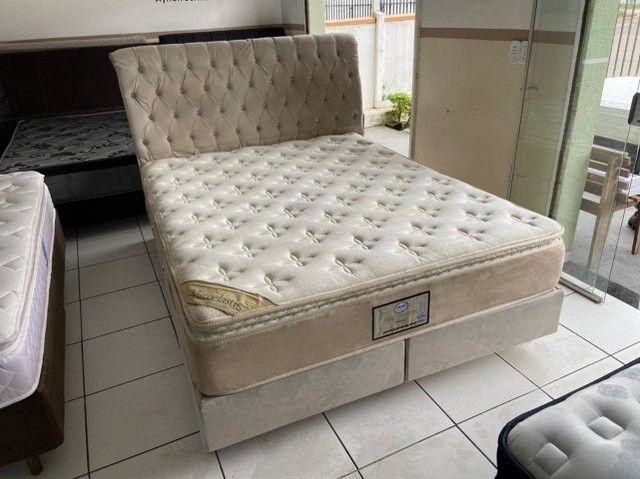 cama box + cabeceira - queen size - entrego - Foto 6