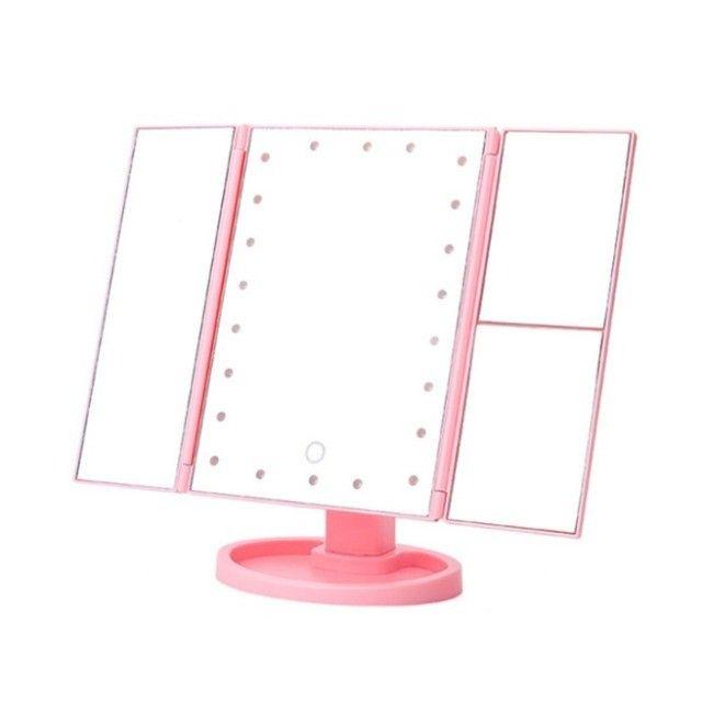 Promoção: Espelho De Mesa Com 16 Leds