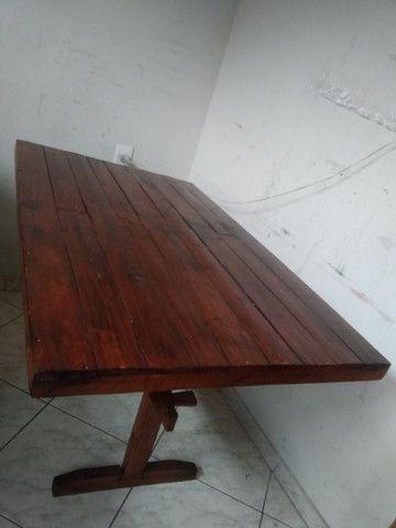 Mesa de madeira rústico - Foto 4