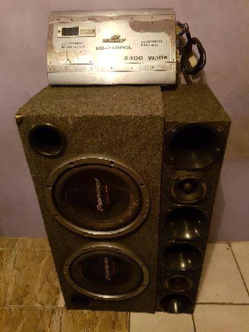 Caixa de som Pioneer + Módulo amplificador B-Buste