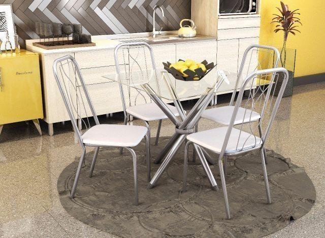Sala de Jantar 04 Cadeiras 375 ZAP * - Foto 2