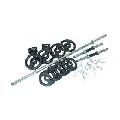Musculação com barras + 20 Kg de anilhas Treino Bíceps ca1de723a7663