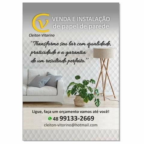 Venda e aplicação de papel de parede