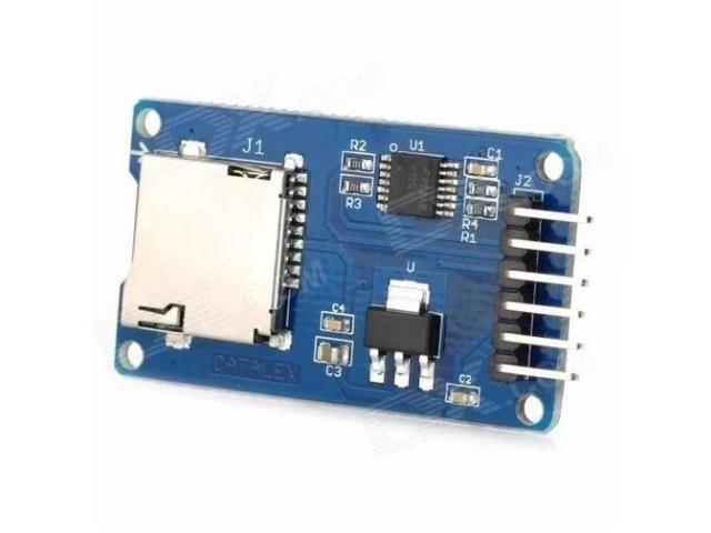COD-AM50 Modulo Leitor Cartão Tf Micro Sd Spi Arduino - Automação - Robotica - Foto 2
