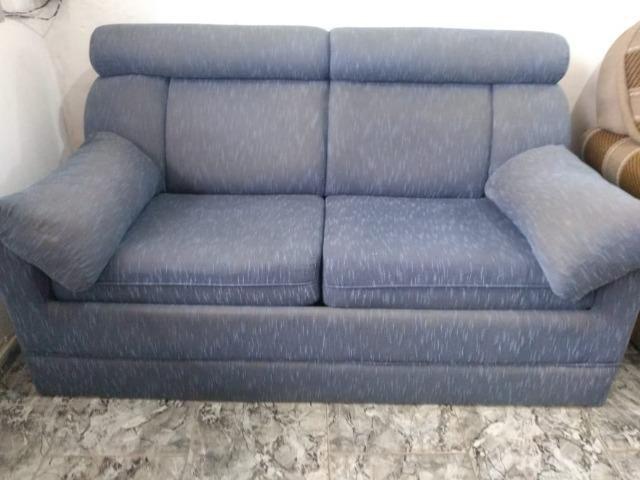 Sofá cama azul c/colchão - Entregamos!
