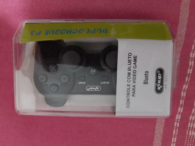 Controle joystick Knup KP-4021 preto - Novo Lacrado - Foto 2