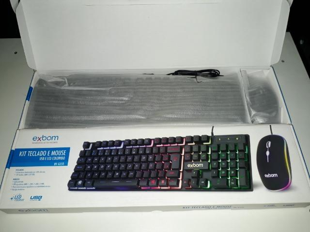KIT Gamer Teclado e Mouse USB e LED Colorido Exbom BK-G550 - Foto 5