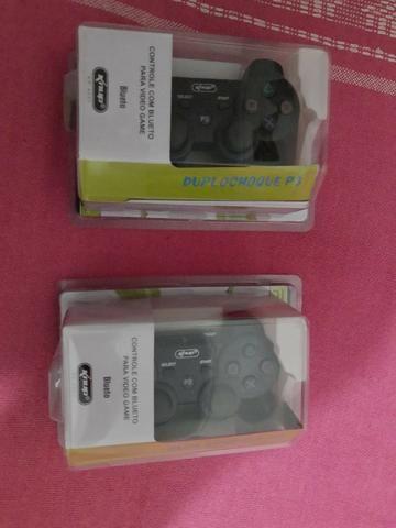 Controle joystick Knup KP-4021 preto - Novo Lacrado - Foto 3