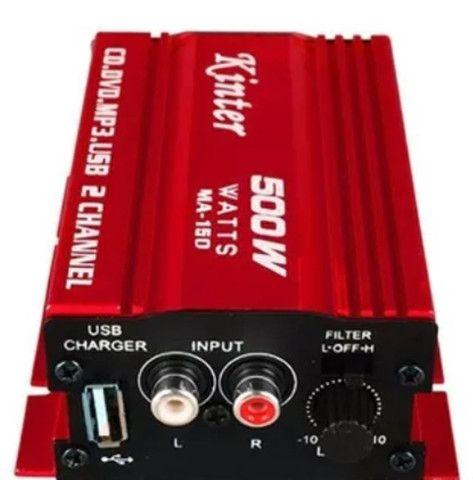 Mini Amplificador Modulo Kinter Ma-150 500w 2 Canais
