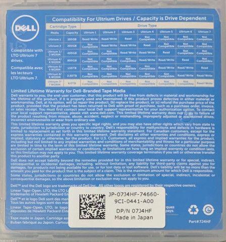 Fita Dell Lto Ultrium 7 Data Cartridge 6.0tb/15.0tb - Foto 3