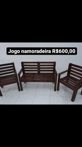 Mesas com bancos e cadeiras - Foto 5