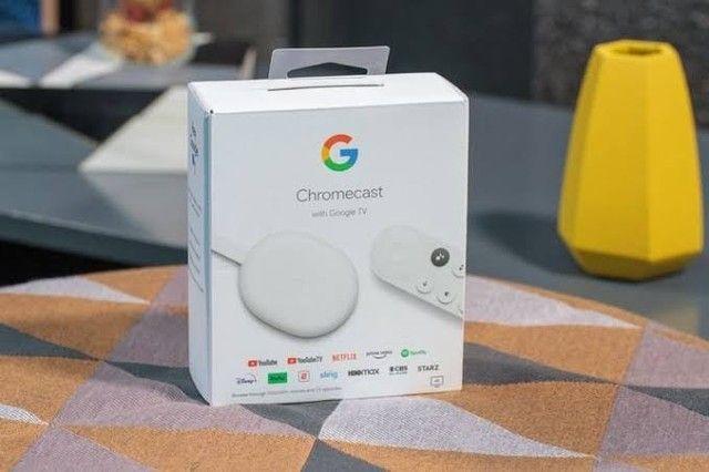 Google Chromecast 4 Lacrado 4k com controle - Foto 2