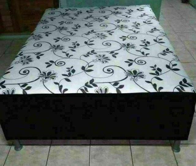 Temos cama box acolchoadas com frente grátis  - Foto 4