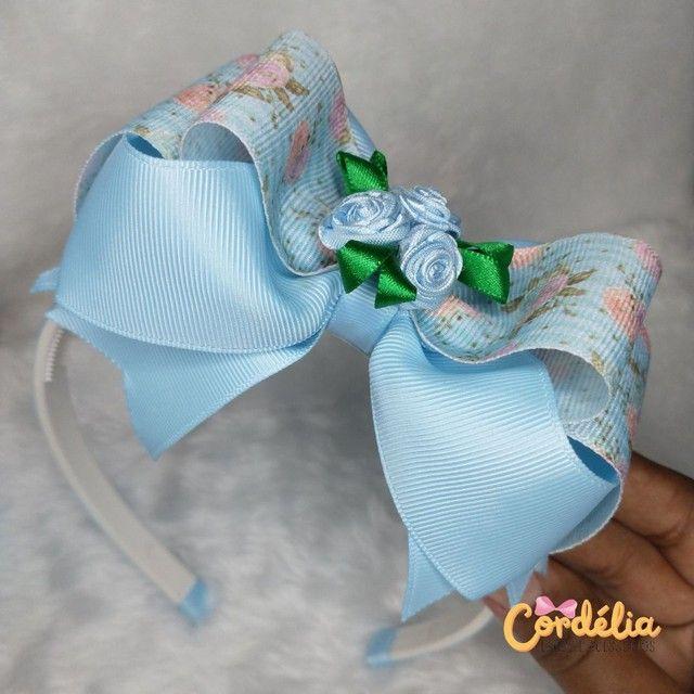 Tiara de Cabelo Laço Floral Boutique Embutido