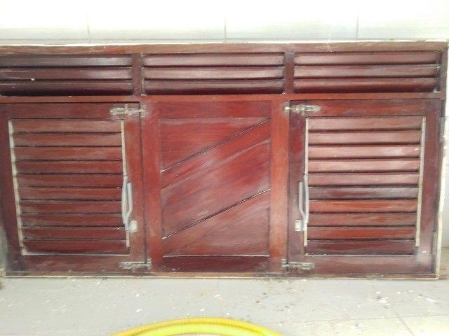 Janelão 150cm x 80cm de madeira de lei Massaranduba