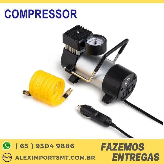 Compressor de Ar Portátil 12 Volts 100Psi Multilaser Bom