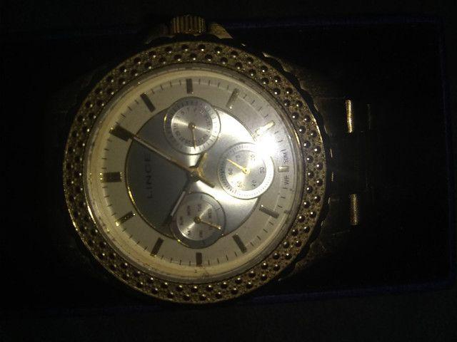Relógio Lince feminino dourado - Foto 2